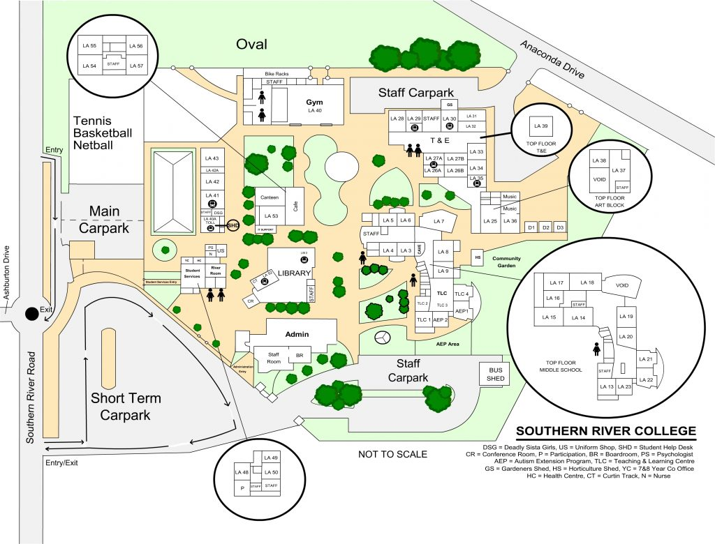 Facilities School Map Southern River College